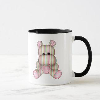 dreamy striped hippo mug