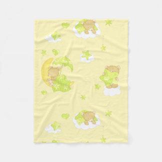 Dreamy Teddy Bear Fleece Blanket