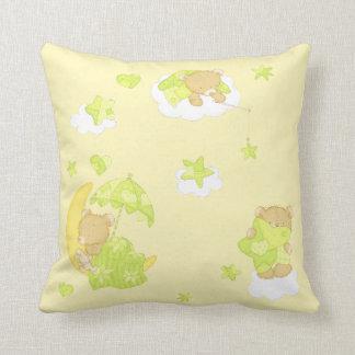 Dreamy Teddy Bear Throw Pillow