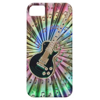 Dreamy Tie-Dye Guitar iPhone 5 Case
