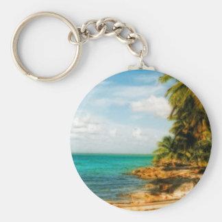 Dreamy Tropical Beach Keychain