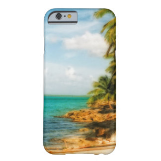Dreamy Tropical Beach with Rowboat Barely There iPhone 6 Case