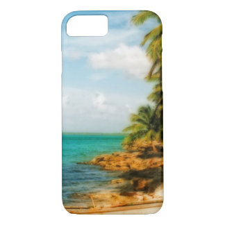 Dreamy Tropical Beach with Rowboat iPhone 8/7 Case