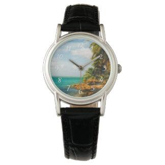 Dreamy Tropical Beach Wristwatch