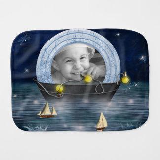 Dreamy Washtub Sailor Scrapbook Style Photo Frame Burp Cloth