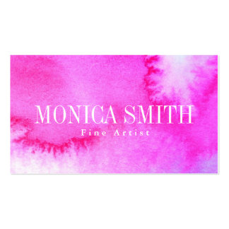 Dreamy Watercolor Double-Sided Standard Business Cards (Pack Of 100)