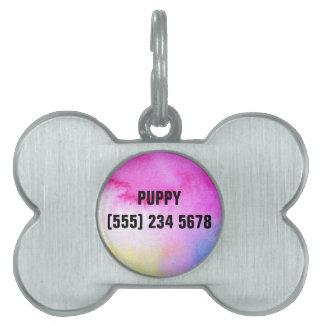 Dreamy Watercolor Pet Tag
