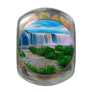 Dreamy Waterfall Landscape Jelly Belly Candy Jar