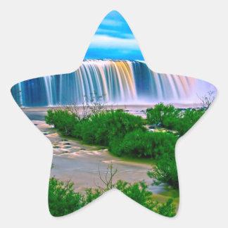 Dreamy Waterfall Landscape Sticker