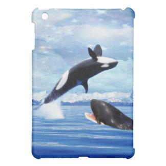 Dreamy Whales enjoying the ocean iPad Mini Cover