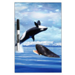 Dreamy whales in fun and play Dry-Erase whiteboard