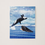 Dreamy whales in fun and play jigsaw puzzles