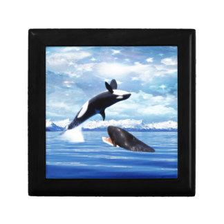 Dreamy whales in fun and play keepsake box