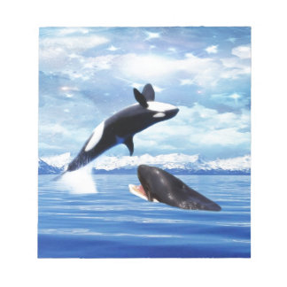 Dreamy whales in fun and play memo notepads