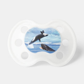 Dreamy whales in fun and play pacifier