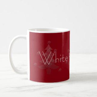 Dreamy White Christmas Tree Silver Star Coffee Mug