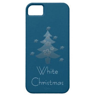 Dreamy White Christmas Tree Silver Star iPhone SE/5/5s Case