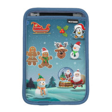 Dreamy Winter Holiday Scene Cartoon Sleeve For iPad Mini