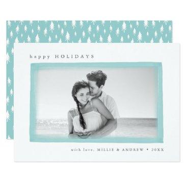 Beach Themed Dreamy Wish Holiday Photo Card | Aqua