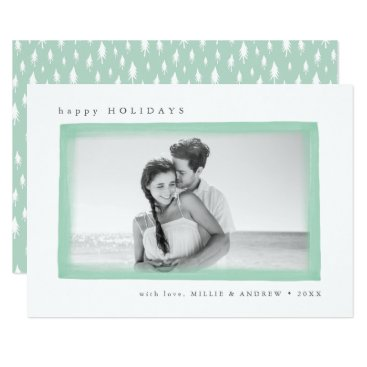 Beach Themed Dreamy Wish Holiday Photo Card | Mint