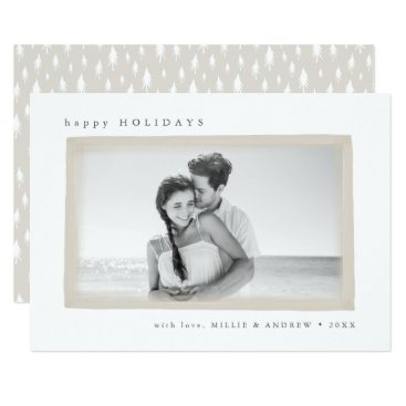 Beach Themed Dreamy Wish Holiday Photo Card | Wheat