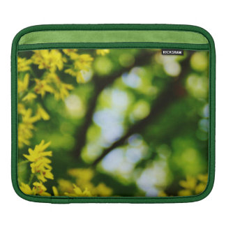 Dreamy Yellow Flowers and Green Leaves iPad Sleeve