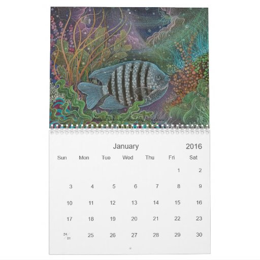 Dreamyfish Art 2010 Calendar