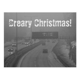 Dreary Christmas postcard