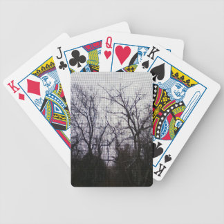 dreary trees bicycle playing cards