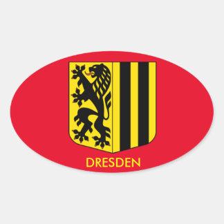 Dreden, Germany*, Oval Sticker