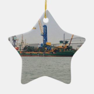 Dredger Britannia Beaver Ceramic Ornament
