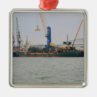 Dredger Britannia Beaver Metal Ornament