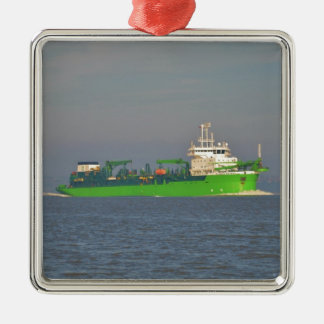 Dredger Lange Wapper Metal Ornament