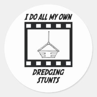 Dredging Stunts Round Sticker