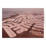 Dredging the Island, Marco Island, Florida, 1970s Greeting Card