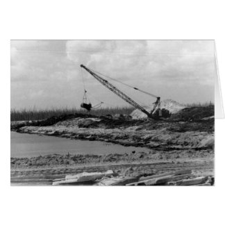 Dredging the Island, Marco Island, Florida, 1973 Card