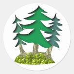 drei Fichten Runde Sticker
