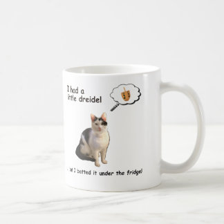 Dreidel Cat Coffee Mug