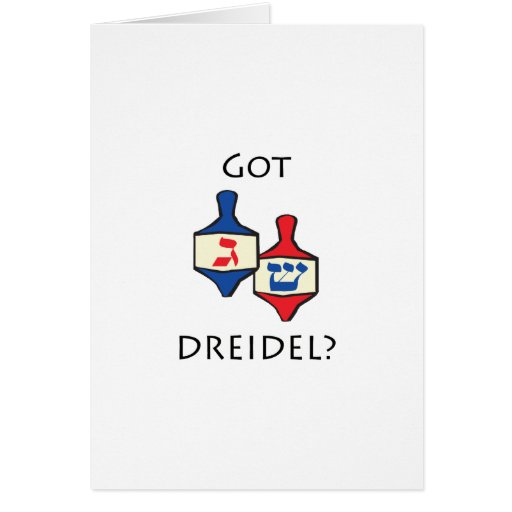 ¿Dreidel conseguido? Tarjeta De Felicitación
