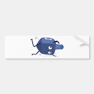 dreidel dance hannukah bumper sticker