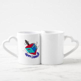 Dreidel de giro set de tazas de café