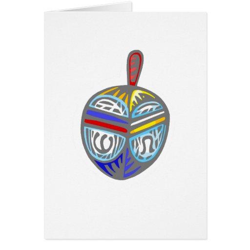 Dreidel de lujo tarjeta de felicitación
