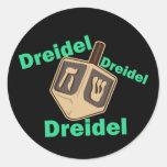 Dreidel Dreidel Dreidel Classic Round Sticker