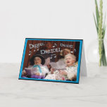 """Dreidel Dreidel Dreidel Holiday Card<br><div class=""""desc"""">The first night of Chanukah is December 11th. This fun and customizable design is available on tee's,  bags,  cards and more. Great gifts for those eight crazy nights.</div>"""