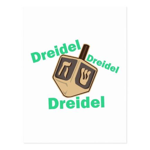 Dreidel Dreidel Dreidel Postcard
