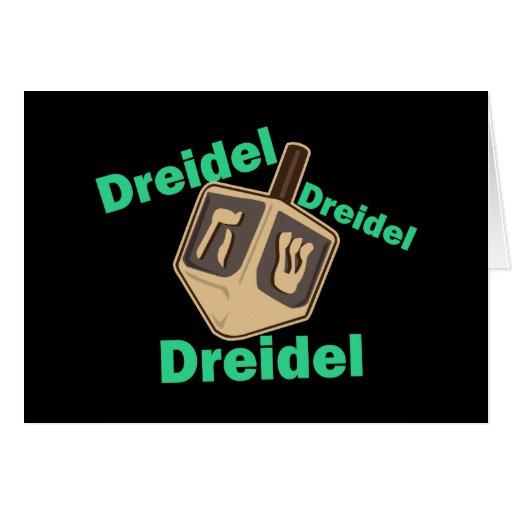Dreidel Dreidel Dreidel Tarjeta De Felicitación