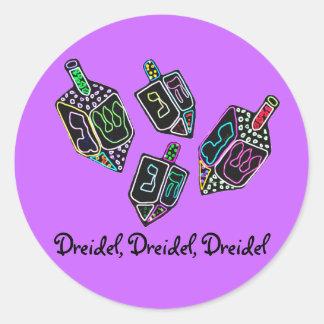 Dreidel Dreidel pegatinas de Dreidel