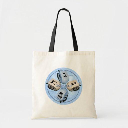 Dreidel Game - Happy Hannukah Canvas Bag