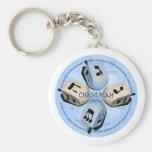 Dreidel Game - Happy Hannukah Basic Round Button Keychain