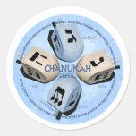 Dreidel Game - Happy Hannukah Round Sticker